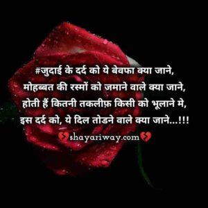 Bewafa Shayari Status, dil todne wali sayri, dard shayari in hindi